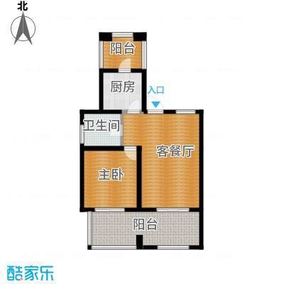西溪山庄95.00㎡LOFT一层户型1室1厅1卫1厨