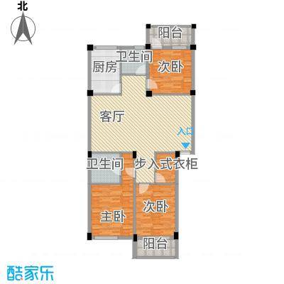 金腾双溪新苑134.52㎡1户型3室1厅2卫1厨