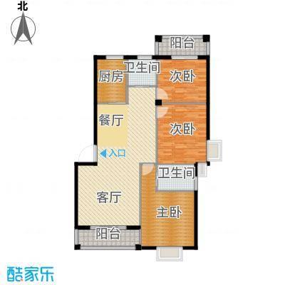 乾水湾126.01㎡A3户型3室1厅2卫1厨