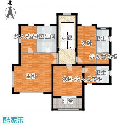 汀香别墅二期408.26㎡13栋二层户型3室3卫