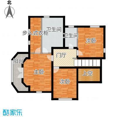 汀香别墅二期375.32㎡17栋二层户型3室2卫