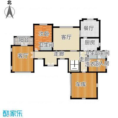 汀香别墅二期396.46㎡12栋一层户型1室3厅3卫1厨
