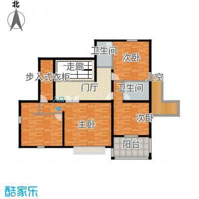 汀香别墅二期404.65㎡15栋二层户型3室2卫