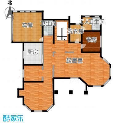汀香别墅二期429.87㎡16栋一层户型1室2卫1厨