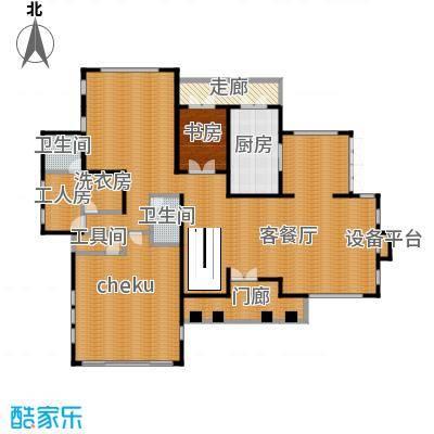 汀香别墅二期385.91㎡8栋一层户型1室1厅2卫1厨