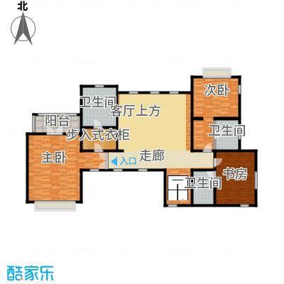 汀香别墅二期396.46㎡12栋二层户型3室3卫