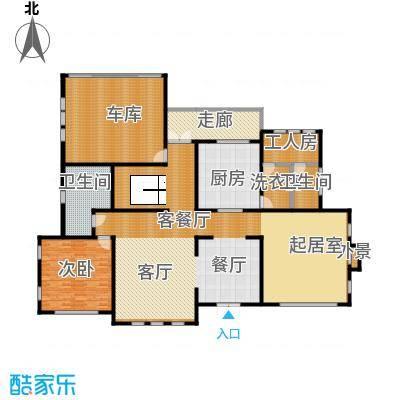 汀香别墅二期404.65㎡15栋一层户型1室1厅2卫1厨
