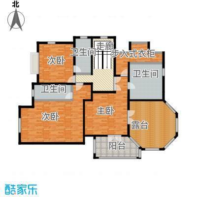 汀香别墅二期429.87㎡16栋二层户型3室3卫