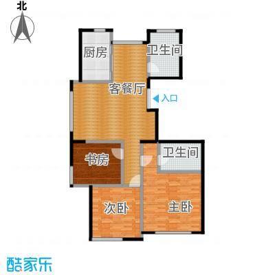 红苹果115.88㎡户型3室1厅2卫1厨