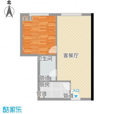 日月光中心伯爵居71.57㎡71.57平米和71.36平米1房2厅1卫户型1室2厅1卫