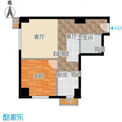 仙都绿苑73.58㎡上海陆家嘴大人物()户型1室1厅1卫1厨