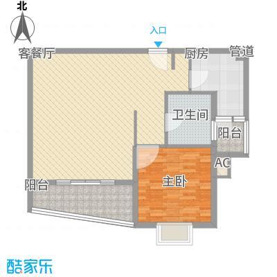 金梅雅苑81.00㎡户型1室2厅1卫