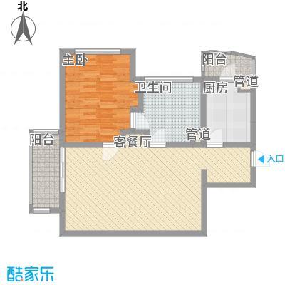 瑞苑公寓102.00㎡一房户型1室2厅1卫
