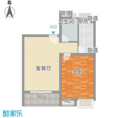 和源祥邸珑庭65.86㎡15号101室户型1室1厅1卫1厨