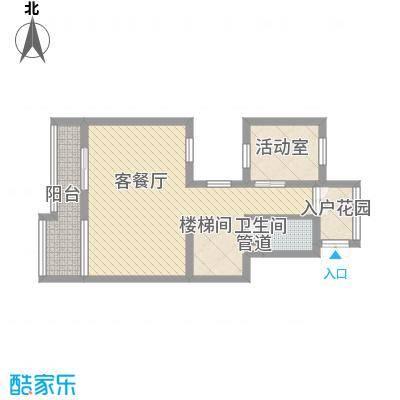 绿地汉拿山小镇200.00㎡三层平面图户型1室2厅1卫