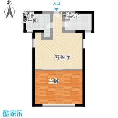 香梅花园五期64.00㎡五期H户型1室1厅1卫