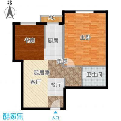 仙都绿苑81.52㎡上海陆家嘴大人物()户型1室1厅1卫1厨