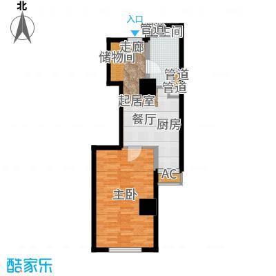 仙都绿苑53.91㎡上海陆家嘴大人物()户型1室1厅1卫1厨