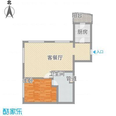 瑞苑公寓99.00㎡一房户型1室2厅1卫