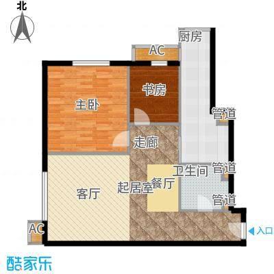 仙都绿苑87.62㎡上海陆家嘴大人物()户型1室2厅1卫1厨