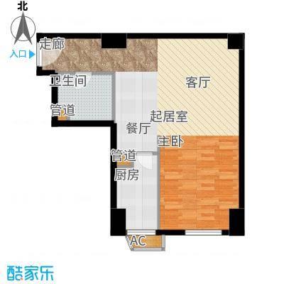 仙都绿苑63.44㎡上海陆家嘴大人物()户型1室1厅1卫1厨