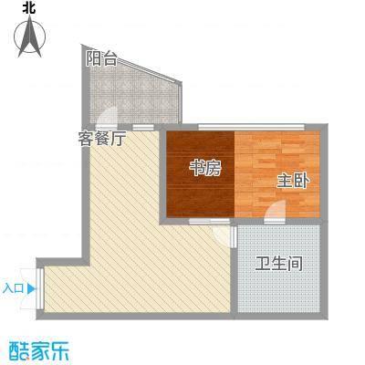 瑞苑公寓81.00㎡一房户型1室2厅1卫