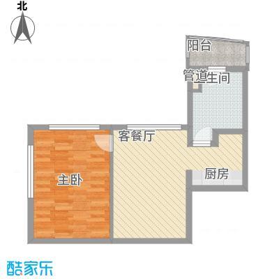 瑞苑公寓67.00㎡一房户型1室2厅1卫