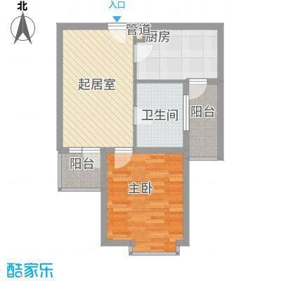 恒杰丁香花园66.91㎡J户型1室1厅1卫1厨