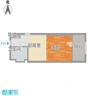 中信太湖城56.00㎡现代简约户型1室1厅1卫