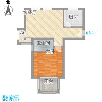 东苑米蓝城65.00㎡上海户型1室1厅1卫1厨