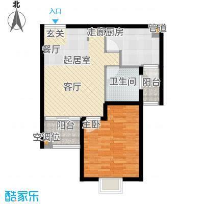好世鹿鸣苑上海户型1室2厅1卫1厨