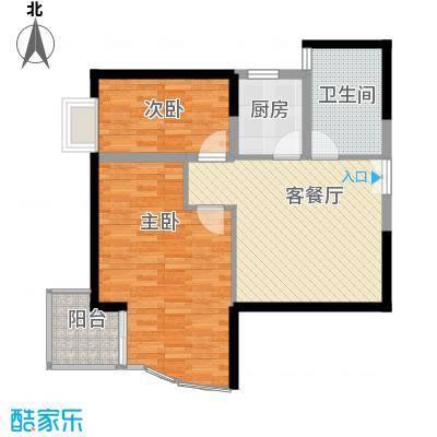 银星名庭93.00㎡银星名庭1室2厅1卫1厨户型1室2厅1卫1厨