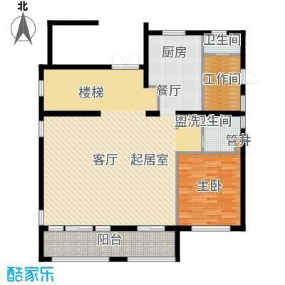 好世麒麟园A1一层户型1室2厅2卫1厨
