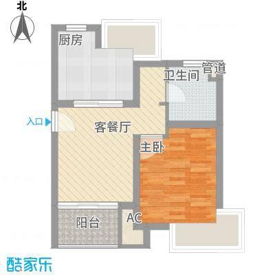 康桥水都56.00㎡上海户型1室1厅1卫