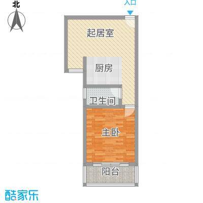 虹桥向日葵公寓68.15㎡上海虹桥向日葵户型1室2厅1卫1厨