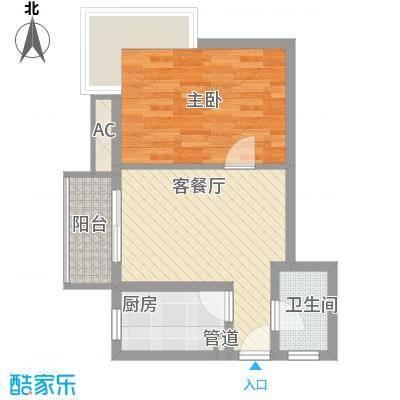 金沙丽晶苑60.00㎡上海翠逸丽晶()户型1室1厅1卫1厨