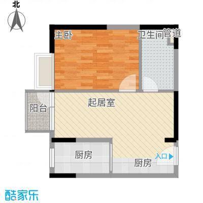 伊时代酒店式公寓64.49㎡F户型1室1厅1卫1厨