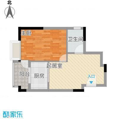 伊时代酒店式公寓51.45㎡H户型1室1厅1卫1厨