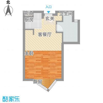 静安紫苑51.70㎡上海户型图户型1室1卫1厨