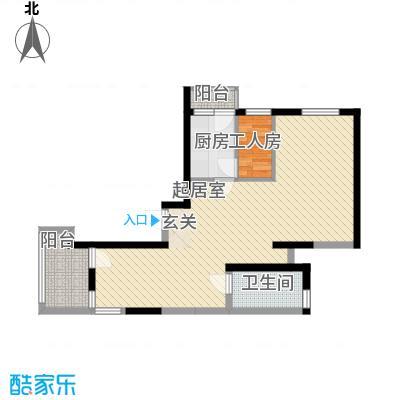 静安行家206.80㎡上海(东海园二期)下层户型1室4厅1卫1厨