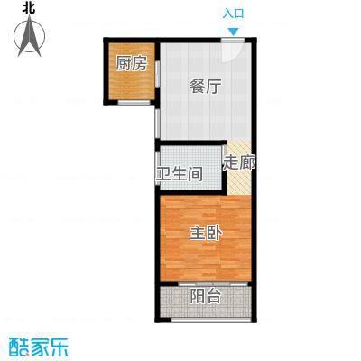 卢湾都市花园62.41㎡上海户型1室1厅1卫1厨