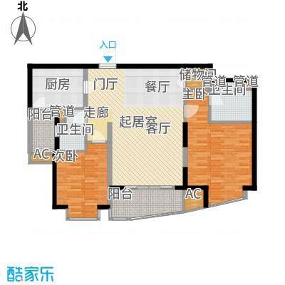 莱诗邸7号楼2单元户型2室2厅2卫1厨