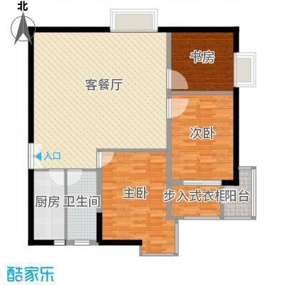 银星名庭127.00㎡银星名庭127.00㎡2室1厅2卫1厨户型2室1厅2卫1厨