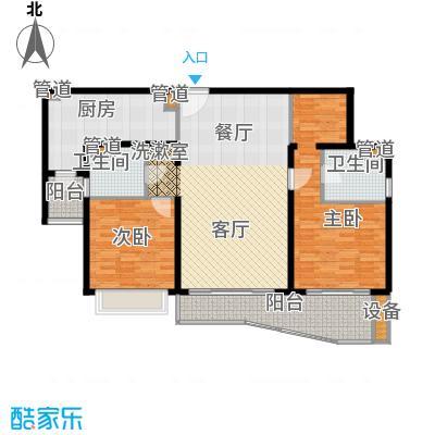 虹桥乐庭铂晶馆123.22㎡02号楼02室户型2室2厅2卫1厨