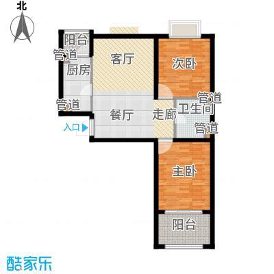 恒阳花苑海上花85.27㎡上海海上花(恒阳花苑)户型2室2厅1卫1厨