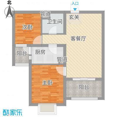 恒阳花苑海上花84.93㎡上海海上花(恒阳花苑)户型2室2厅1卫1厨