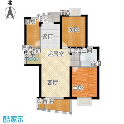 信通浦皓园103.05㎡2号楼/3号楼户型2室2厅1卫1厨