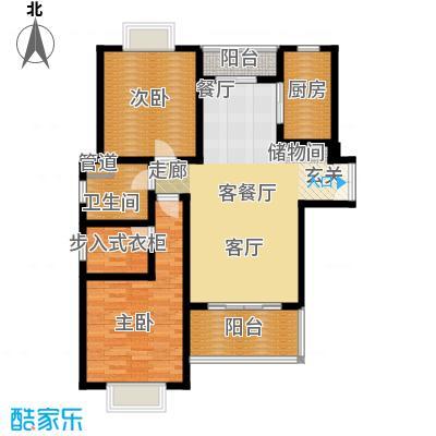 鼎隆公寓(杨浦)103.01㎡4号楼b3户型2室2厅1卫
