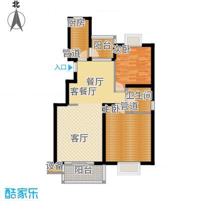 书香银苑6.00㎡B户型2室2厅1卫1厨