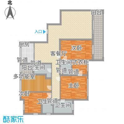 元丰庆春御府220.00㎡D户型4室2厅4卫1厨